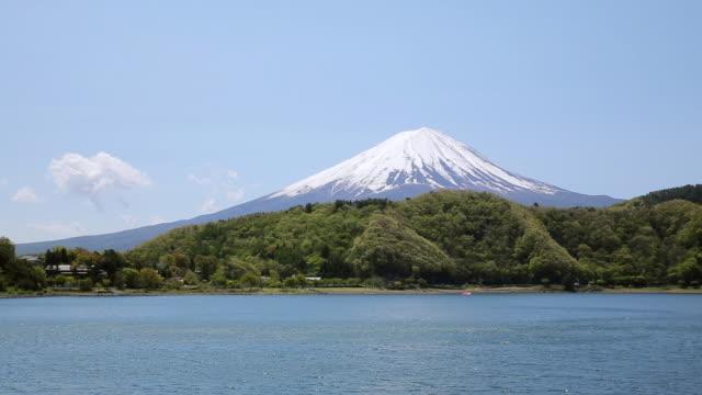 WS View of Mt.Fuji and Lake Kawaguchi in Spring / Fujikawaguchuko, Tokyo, Japan