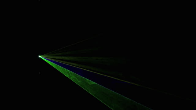 ws view of multi colored flashing laser lights / berlin, germany - nightlife stock videos and b-roll footage