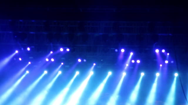 View of Multi colored stage light at concert