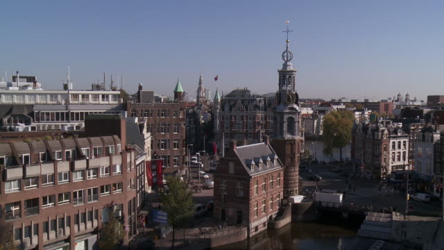 WS View of Muntplein and Munttoren / Amsterdam, Northern Holland, Netherlands