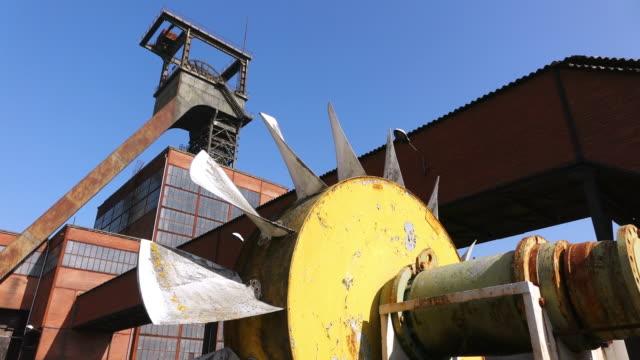ms la view of museum les mineurs wendel / petite rosselle, lorraine, france - lorraine stock videos & royalty-free footage