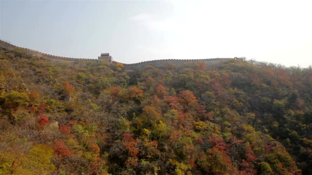 ws view of mutianyu section of the great wall - mutianyu stock videos & royalty-free footage