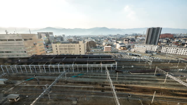 view of nagano city in nagano, japan - nagano prefecture stock videos and b-roll footage