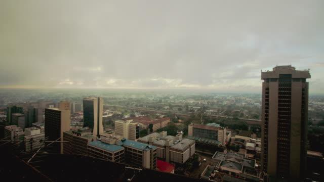 ws zi t/l view of nairobi city / nairobi, kenya - nairobi stock videos and b-roll footage
