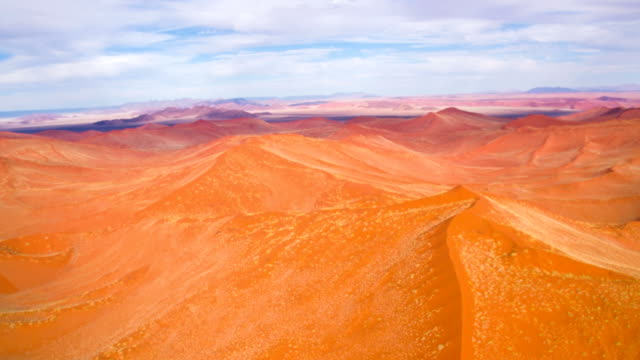 aerial view of namibian desert - namibian desert stock videos and b-roll footage
