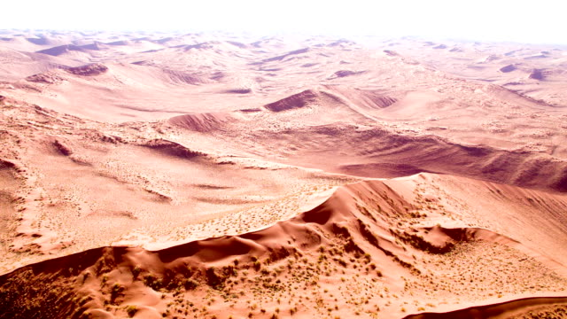 aerial view of namibian sand dunes - namibian desert stock videos and b-roll footage