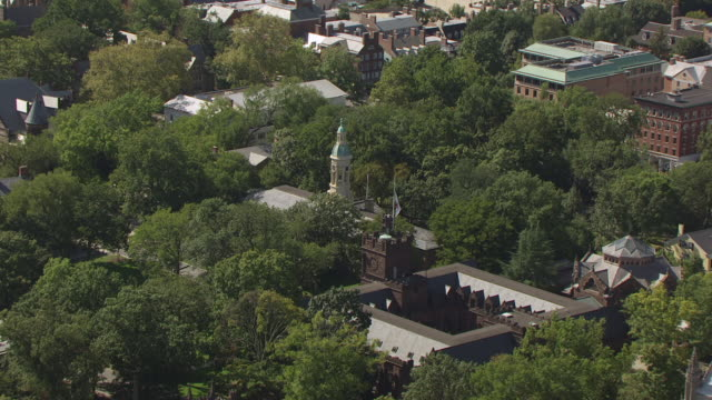 MS AERIAL ZO View of Nassau Hall to Princeton University / Princeton, New Jersey, United States