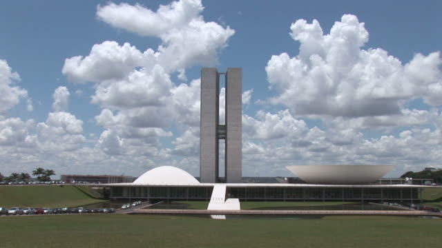 ws view of national congress building / brasilia, brasilia capital, brasil - brasilia stock videos and b-roll footage