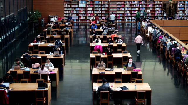 view of national library of china,beijing,china. - library stock videos & royalty-free footage
