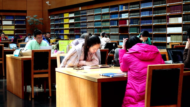 view of national library of china,beijing,china. - silenzio video stock e b–roll