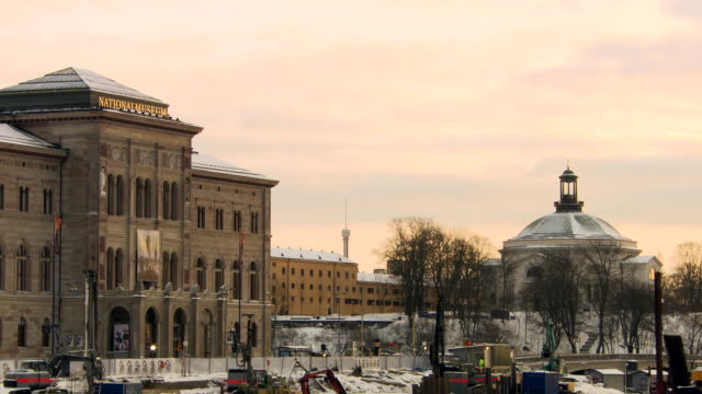 ws view of national museum / stockholm, fennoscandia, sweden - famous place stock videos & royalty-free footage