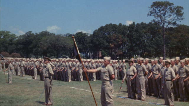 MS PAN View of navy dress review at large military base