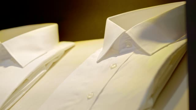 view of neatly ordered shirts in jongno-gu - folded stock videos & royalty-free footage