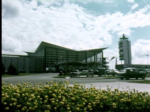 WS View of new airport, Belgrade, Yugoslavia / AUDIO