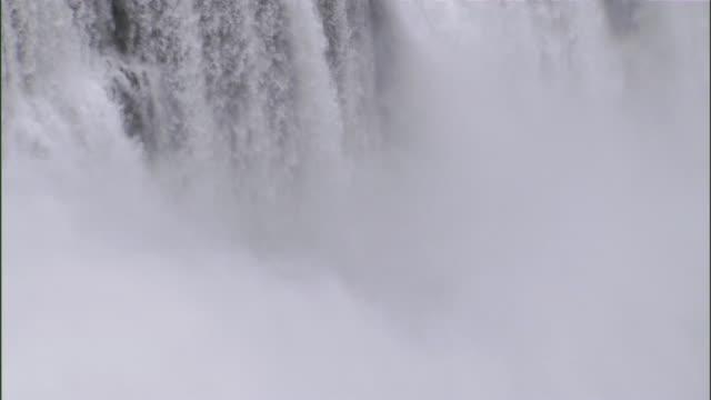 ws td view of niagara falls / niagara falls city, new york, usa - niagara falls city new york state stock videos & royalty-free footage