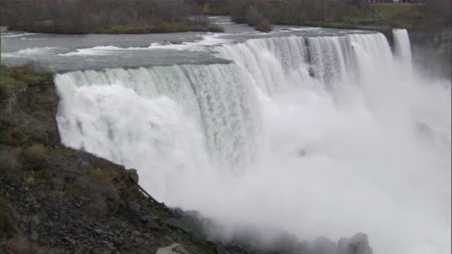ws view of niagara falls / niagara falls city, new york, usa - niagara falls city new york state stock videos & royalty-free footage