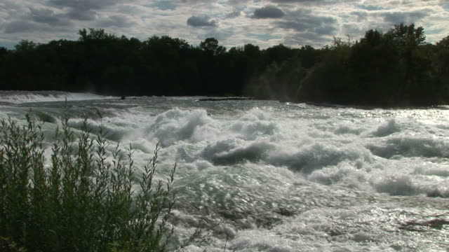 view of niagara river in new york united states - fluss niagara river stock-videos und b-roll-filmmaterial