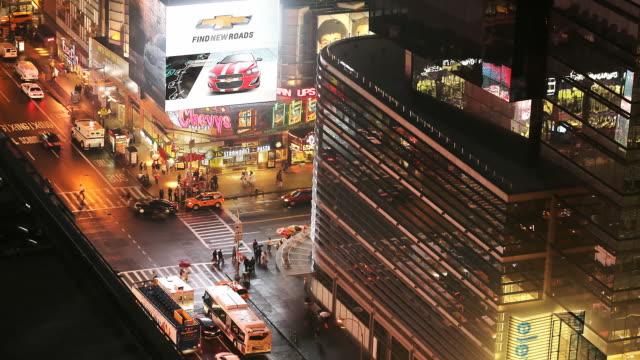 ha t/l view of night traffic - zumare indietro video stock e b–roll