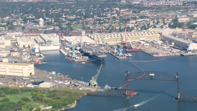 WS AERIAL ZI ZO View of Norfolk Navy Yards / Virginia, United States