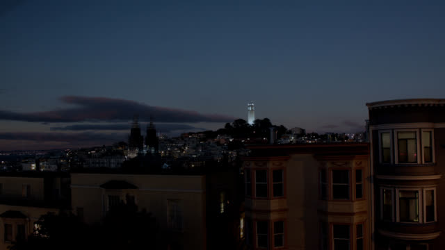 view of north beach, san francisco - north beach san francisco stock videos and b-roll footage