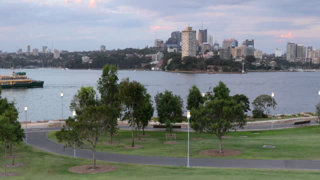 view of north sydney from barangaroo reserve, sydney, new south wales, australia, pacific - north pacific stock videos & royalty-free footage