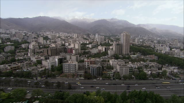 ws ha pan view of north tehran, iran - tehran stock videos and b-roll footage