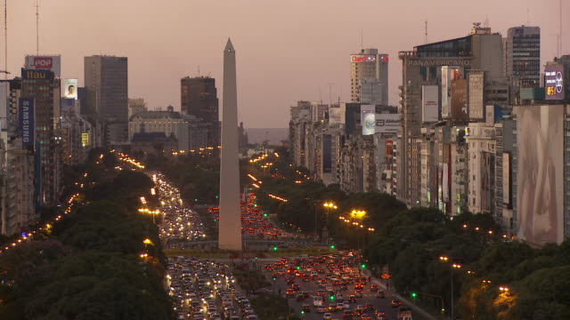 stockvideo's en b-roll-footage met view of obelisco in buenos aires, argentina - obelisk
