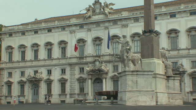 WS View of Obelisk in Piazza Quirinale / Rome, Italy