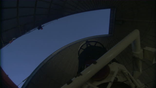 ms view of observatory dome turning / mount lemmon observatory, arizona, usa - observatory stock videos & royalty-free footage