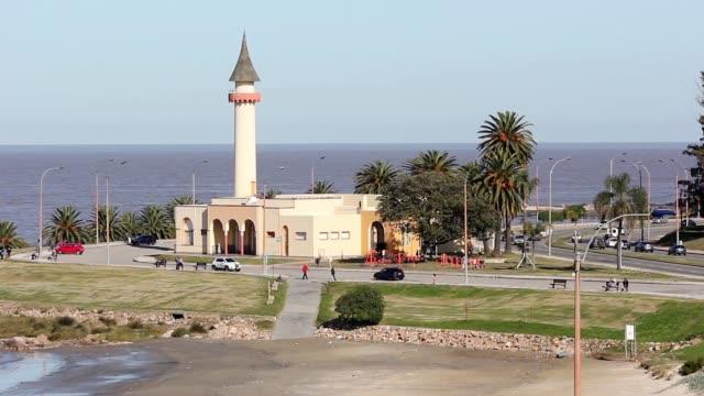 View of oceanographic musem in Buceo neighborhood, Uruguay.