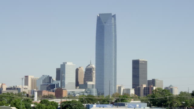 WS View of Oklahoma City skyline during the day / Oklahoma City, Oklahoma, United States