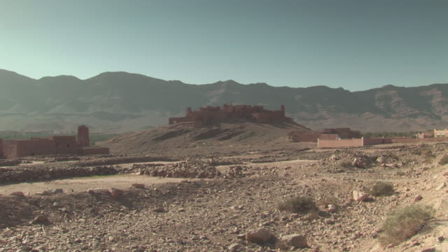 ms zi view of old abandoned ksar in morocco / south morocco, zagora, morocco - 2008 stock videos & royalty-free footage