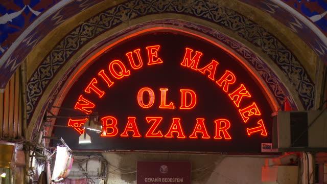 View of Old Bazaar in Istanbul Turkey