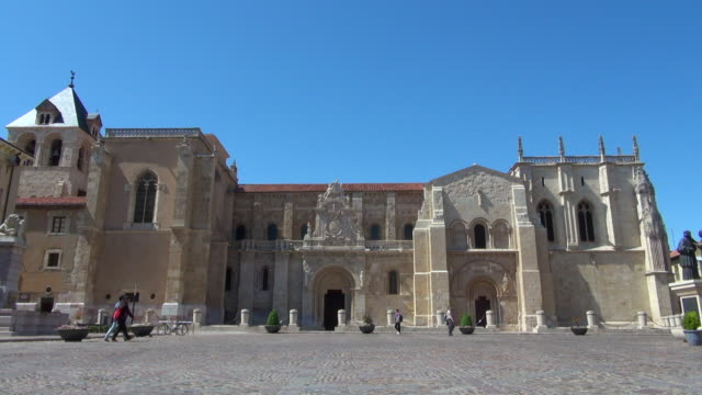 View of Old Church in Leon Spain: Walking