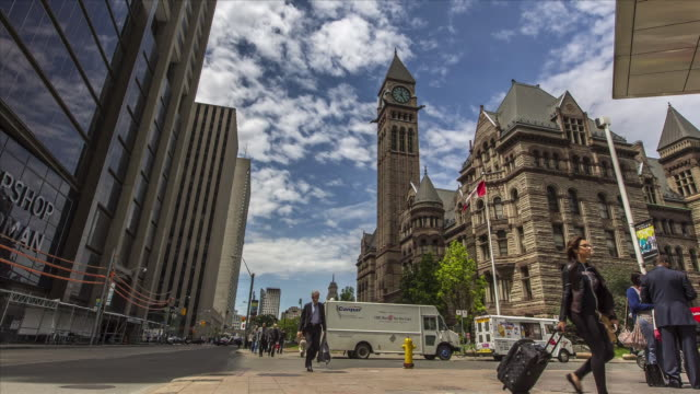 view of old city hall - toronto stock-videos und b-roll-filmmaterial