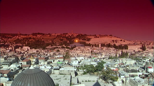 ws view of old city / jerusalem, israel  - jerusalem old city stock videos and b-roll footage