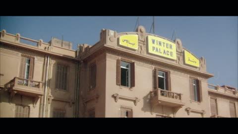 vidéos et rushes de ms view of old luxury hotel - palace
