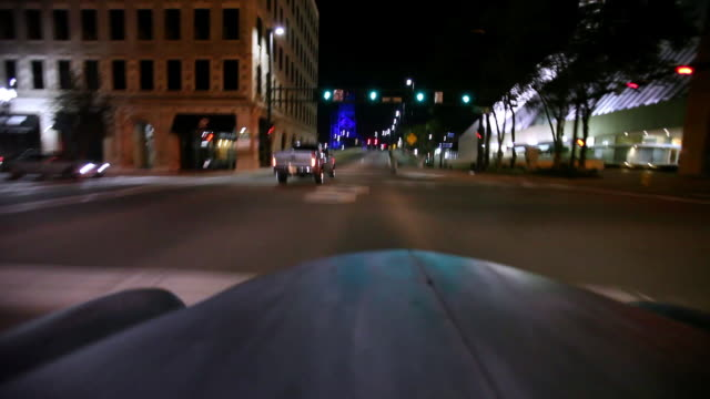 ms ts view of old model cars driving down through street and over bridge / jacksonville,florida,united states - jacksonville florida video stock e b–roll