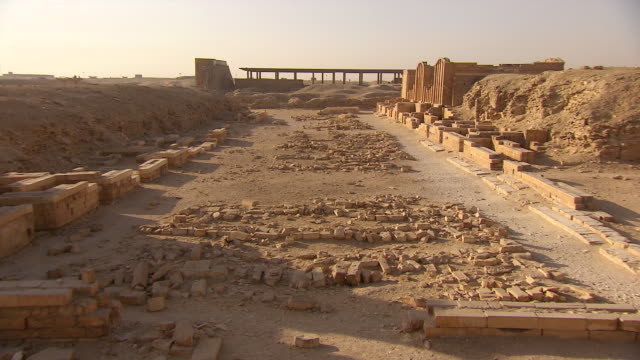 ws zo view of old ruins near pyramid area / egypt - saqqara stock videos and b-roll footage