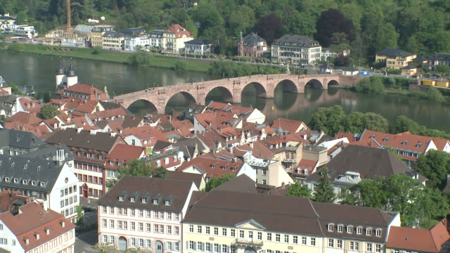 ws view of old town and river neckar / heidelberg, baden-wuerttemberg, germany - neckar river stock videos & royalty-free footage