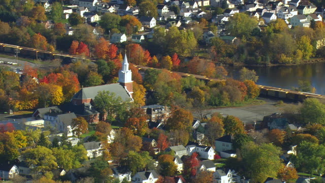 WS ARIEAL View of Old town / Maine, United States