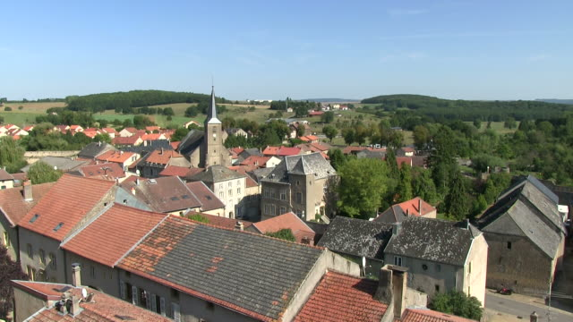 ws view of old town / rodemack, lorraine, france - lorraine stock videos & royalty-free footage