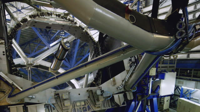 ws view of one of the mirrors in a vlt telescope at paranal observatory / chile - four objects stock videos & royalty-free footage