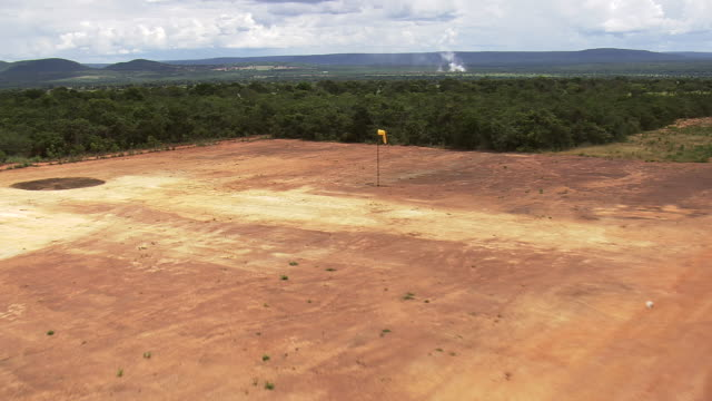 ws aerial view of open land near trees / minas gerais, brazil - minas stock videos and b-roll footage