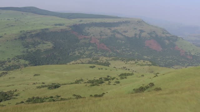 WS AERIAL View of open piece of land / Nelspruit, Mpumalanga, South Africa