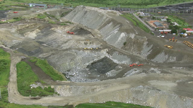 CU AERIAL ZO View of opencast mine / Johannesburg, Gauteng, South Africa
