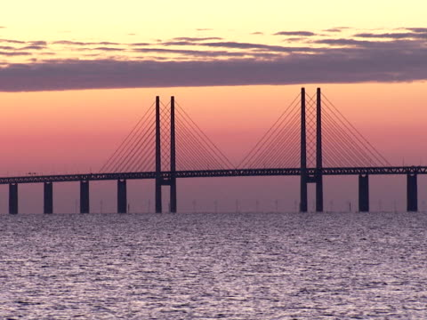 View of Oresundsbron the bridge connecting Sweden and Denmark.