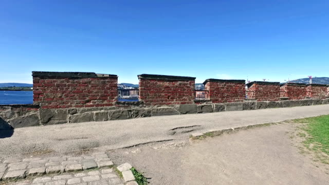 A view of Oslo harbor from the Oslo fortress