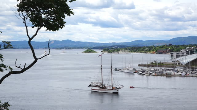 WS View of Oslofjord harbour / Oslo, Norway