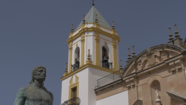View of Our Lady of Socorro in Plaza del Socorro, Ronda, Andalucia, Spain, Europe